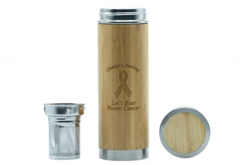 Charity flask back and strainer