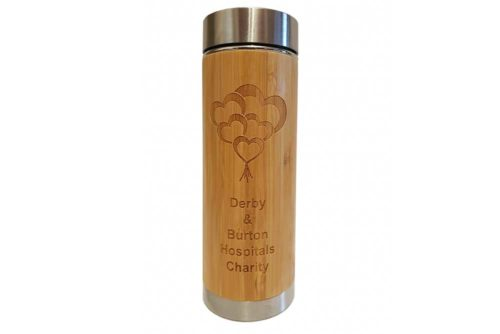Etched Vacuum Flask – Derby & Burton Hospitals Charity