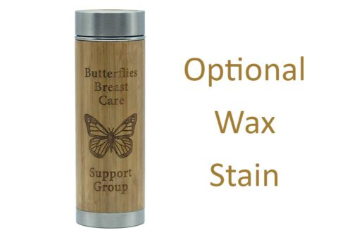 Butterflies Flask with stain